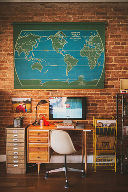 Baltimore Photography Studio: Maps and Danish Modern Interior Design