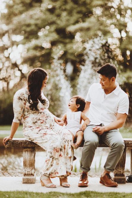 甘蔗山家庭照片和产妇会议