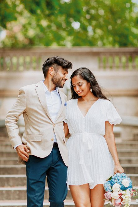 A Zoom Wedding on the Spanish Steps DC Elopement