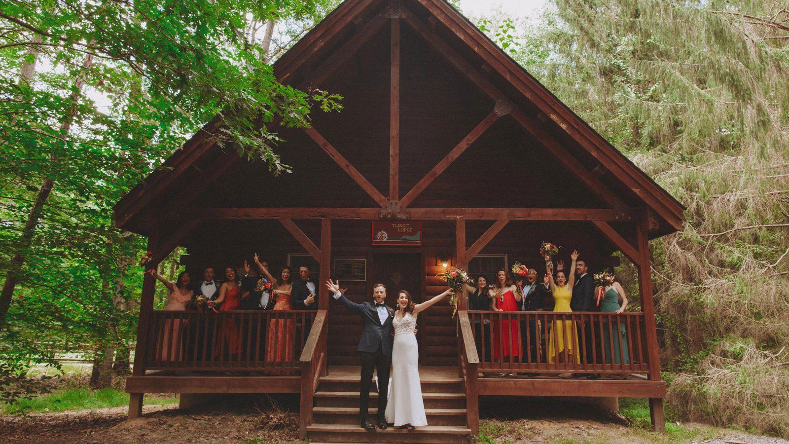 Leona & Garrett's Camp Wedding at Puh'Tok
